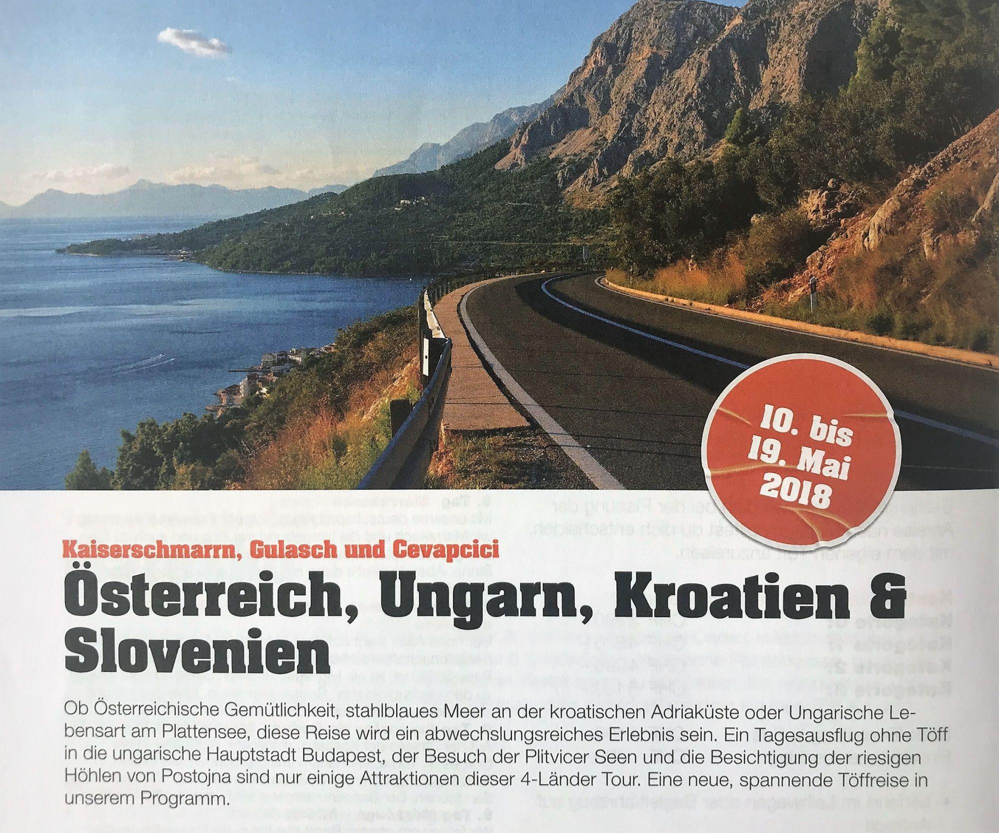 Österreich, Ungarn Tour 2018